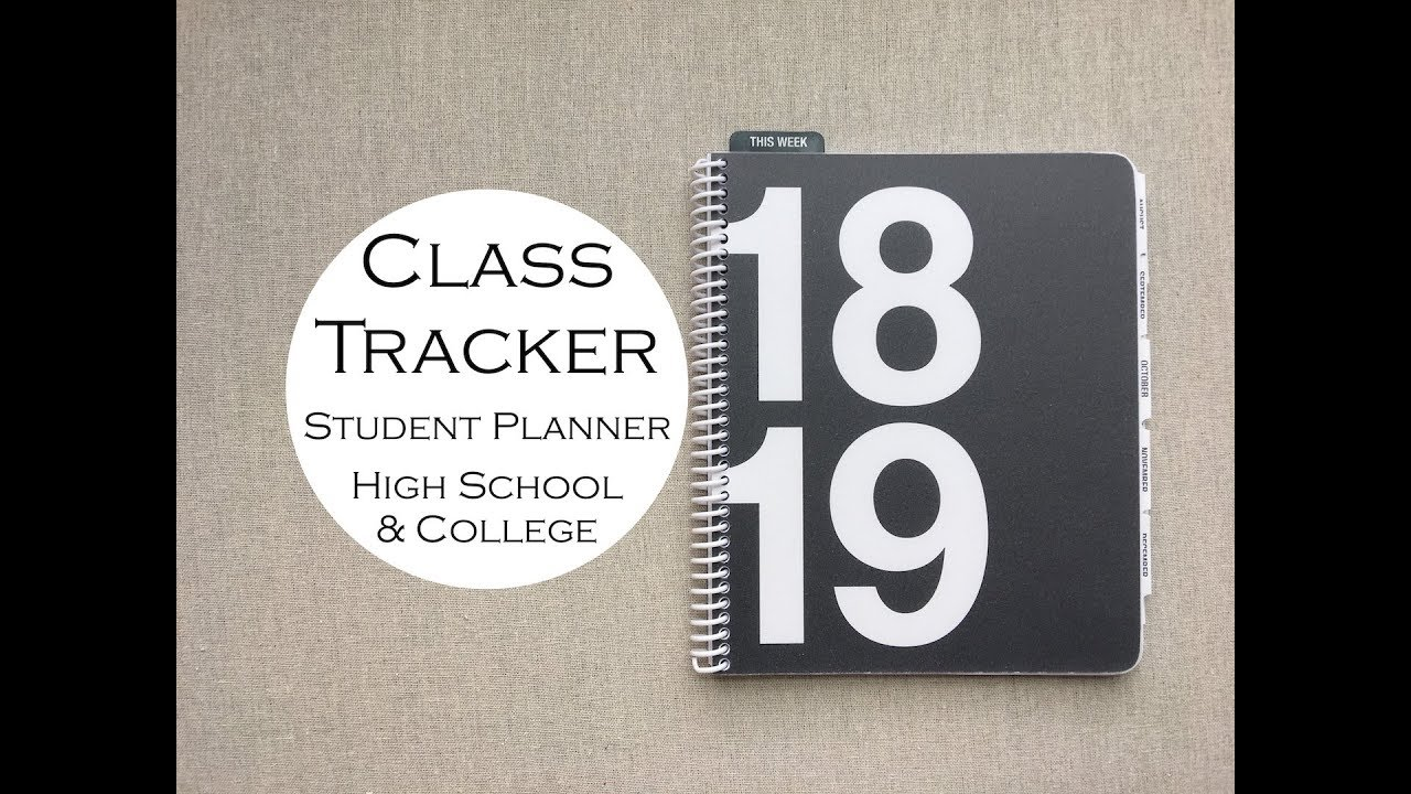 class tracker student planner high school college youtube