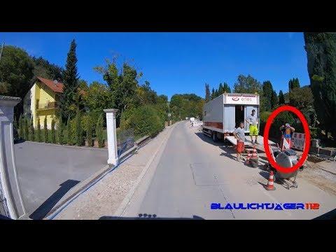 [Innenaufnahme / mit Pressluft durch die Gemeinde] Einsatzfahrt HLF 20 - Feuerwehr Meckesheim