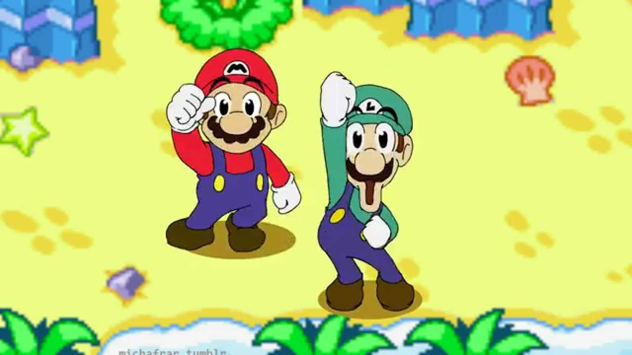 mario and luigi superstar saga sprites gif