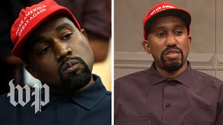 SNL's Kanye-Trump meeting vs. the real ...
