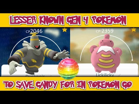 Lesser Known Gen 4 Pokemon To Save Candy for In Pokemon Go