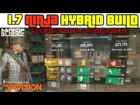 The Division 1.7 NINJA BAG HYBRID BUILD 2 TACTICIAN 2 BANSHEE 44 kills 58k laststand gameplay