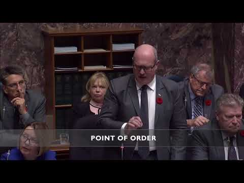 Point of order discussion regarding insults in the BC Legislature