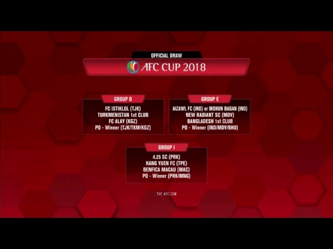 AFC Cup 2018 Official Group Stage Draw