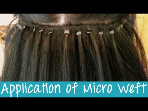 Micro weft hair extensions application instant beauty youtube pmusecretfo Images
