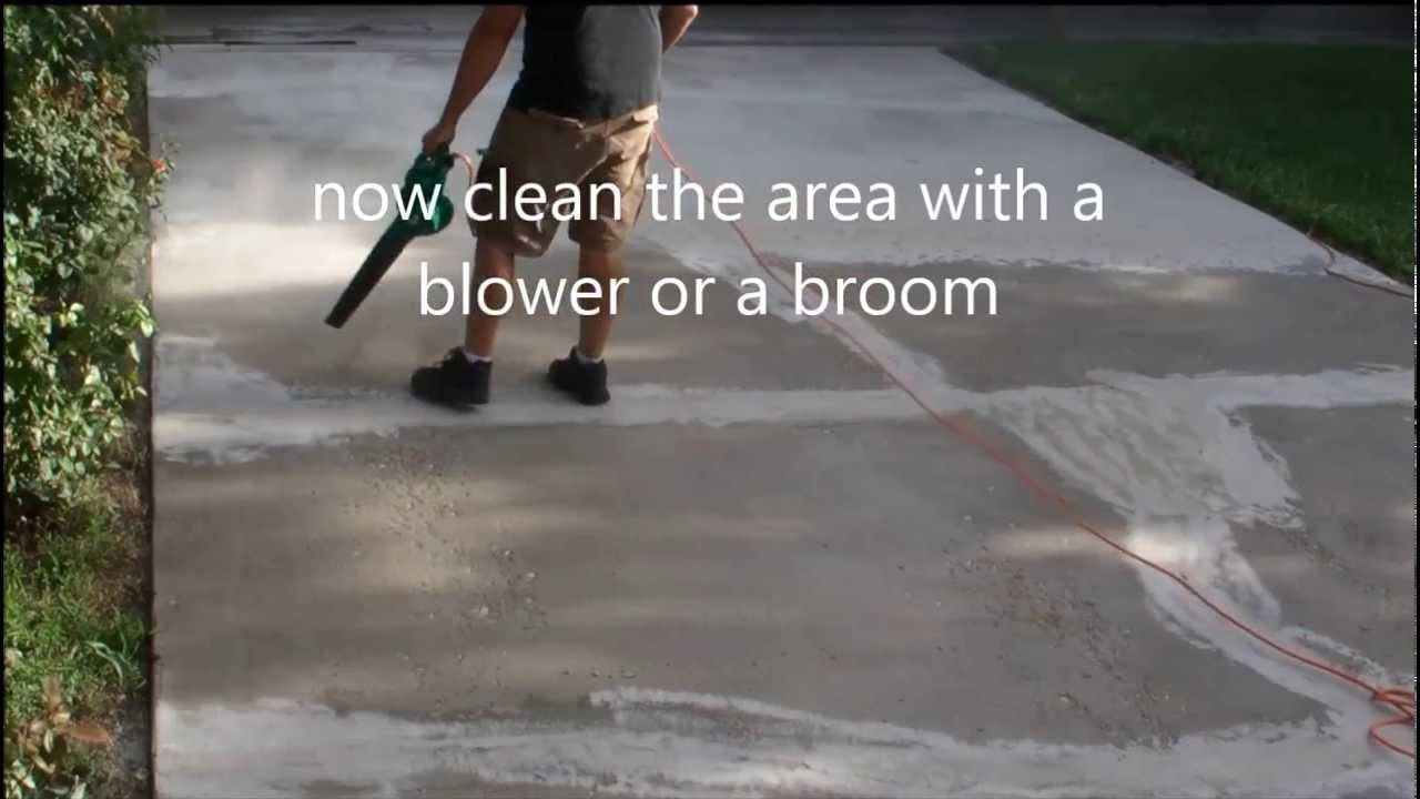 How to Repair Concrete Driveway  YouTube