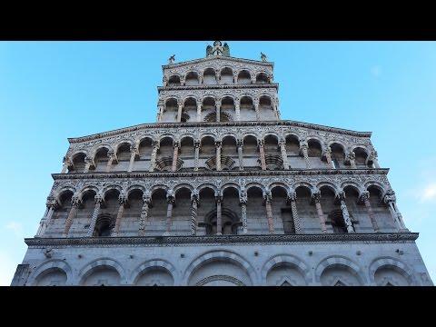 Lucca city walk 2014 HD. Italy (Tuscany).