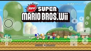 New súper Mario bros Wii para android emulador dophin