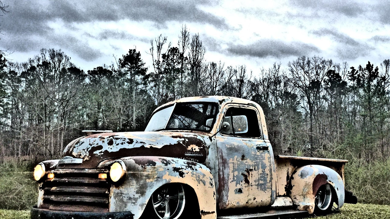 1953 CHEVY 3100 C10 SQUARE BODY SHOP TRUCK BAGGED PATINA AIR RIDE ...