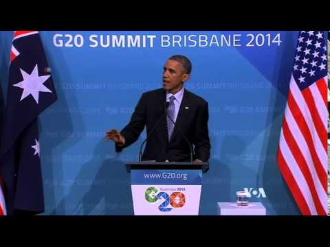 G20 Brisbane 2014 Summit in Australia - Obama & Putin