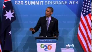 G20 Brisbane 2014 Summit in Australia - Obama & Putin