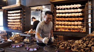 Download lagu 튀긴 치킨이 싫을땐? 기름기 쫙뺀 장작구이 통닭 모음 | Non-greasy wood-fired whole chicken collection | Korean Street food