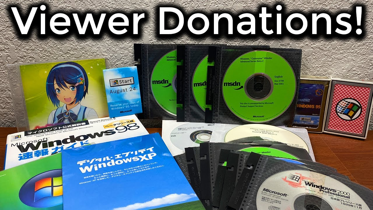 Download Unboxing a TON of Microsoft Beta Software! - Viewer Donations