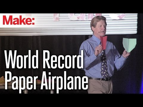 The World Record Paper Airplane - John Collins