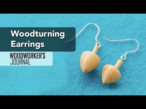 Turning Earrings on a Lathe | Woodturning Project