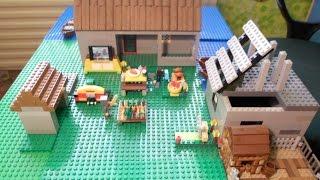 Лего майнкрафт  самоделка ''Деревня в пустыне''+ мультик 1 серия