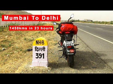 Faster than Rajdhani : Mumbai to Delhi | 1450 km's in 23 hours | Solo Ride