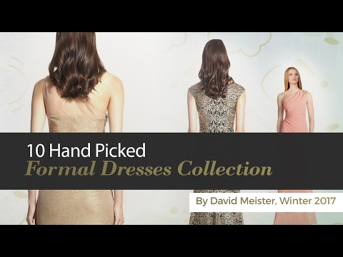 10 Hand Picked Formal Dresses Collection By David Meister, Winter 2017