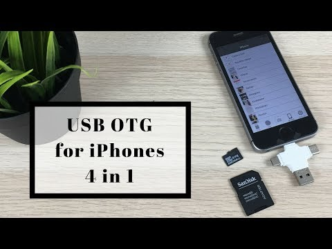 Usb OTG For IPhone & Android | 4 In 1 Usb Otg Adapter With Lightning, Usb B & Usb C Port
