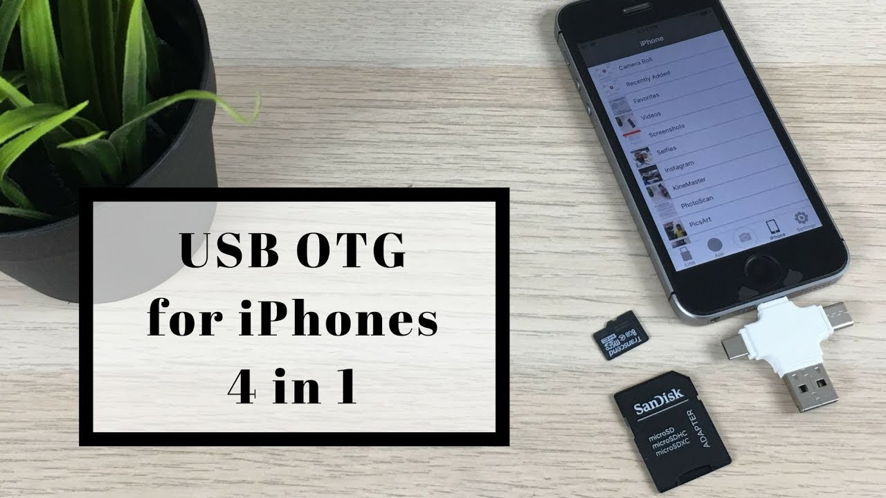 pretty nice bd45c f9734 Usb OTG for iPhone & android   4 in 1 usb otg adapter with lightning, usb b  & usb c port