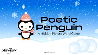 WINTER VIRTUAL GAME: POETIC PENGUIN | An Online Hidden Picture Word Game for Kids