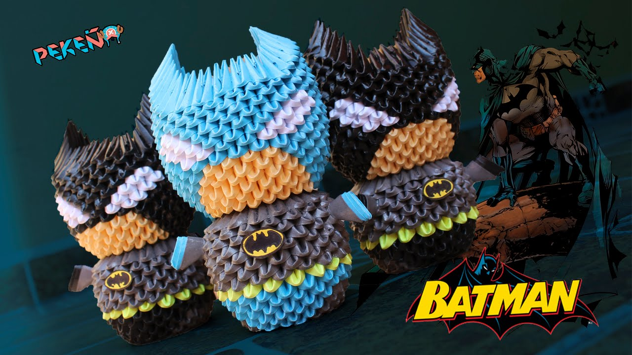 Origami batman gallery craft decoration ideas batman 3d origami pekeo youtube jeuxipadfo gallery jeuxipadfo Image collections