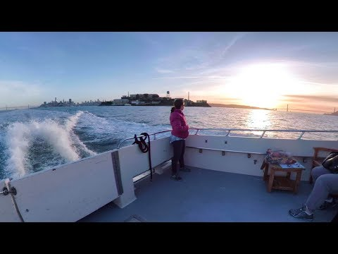 Bay Cruise: SF to Tiburon in 6 minutes   360 video