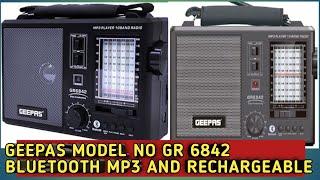 Geepass model no Gr6842 bluetooth Fm/usb/sd/Tf/ support
