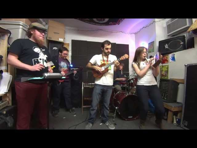 """Super Mario Brothers"" - Ukulele Band w/ Melodica, Ukulele Bass, Percussion, Drum Kit"