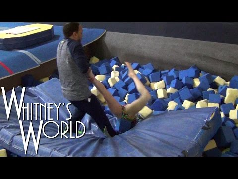 Yurchenko Vault Training | Stuck Upside Down in the Foam Pit | Whitney Bjerken