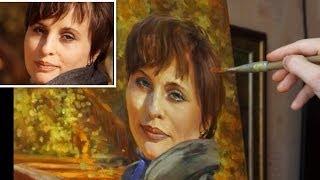Портрет по фотографии. Масляная живопись. Олег Буйко. Oil painting. Painting a portrait.