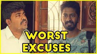 போன்ல யார் கூட பேசிட்டு இருந்த ?Worst Excuses by People  Tamil Standup Comedy Kichdy