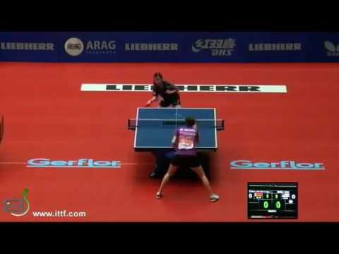 Tischtennis WTTC LIEBHERR Team WM Dortmund 2012 PAVLOVICH Viktoria vs HSING Ariel