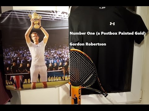 Andy Murray - Number One (a Postbox Painted Gold) - Gordon Robertson