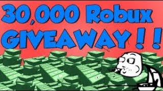 ROBLOX GRATIS ROBUX 30K ROBUX GIVEAWAY CARTE REGALO GIVEAWAY