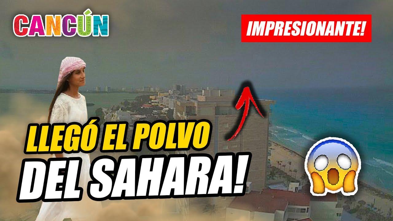 💨 POLVO DE SAHARA llegó a CANCÚN y así se vió la ciudad | IMPRESIONANTE CIELO en el CARIBE! 😱