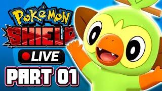 Pokémon Shield LIVE - Part 01 | WHICH STARTER DO I CHOOSE?!