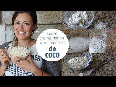 Cómo hacer leche, crema, mantequilla y harina de coco