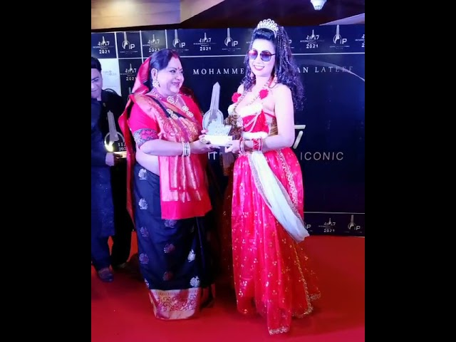 इंटरनेशनल आईकॉनिक अवॉर्ड्स 2021- बेस्ट एक्ट्रेस का पुरस्कार देकर अभिनेत्री बंदना गौतम को किया सम्मान