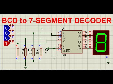 BCD to 7 segment decoder avi YouTube