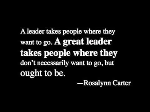 Inspiring Leadership Quotes Entrancing How To Be A Leader 20 Inspiring Quotes On Leadership  Youtube