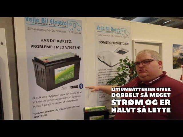 Litium batterier til autocampere og campingvogne