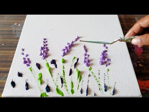 lavender-field-/-simple-floral-/-abstract-painting-demonstration-/-project-365-days-/-day-#0362