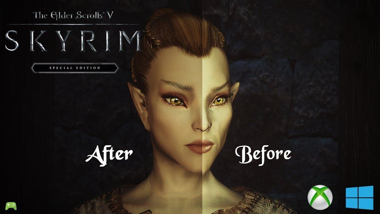 skyrim special edition Aesthetic Elves mod showcase (PC/XBOX) [HD]