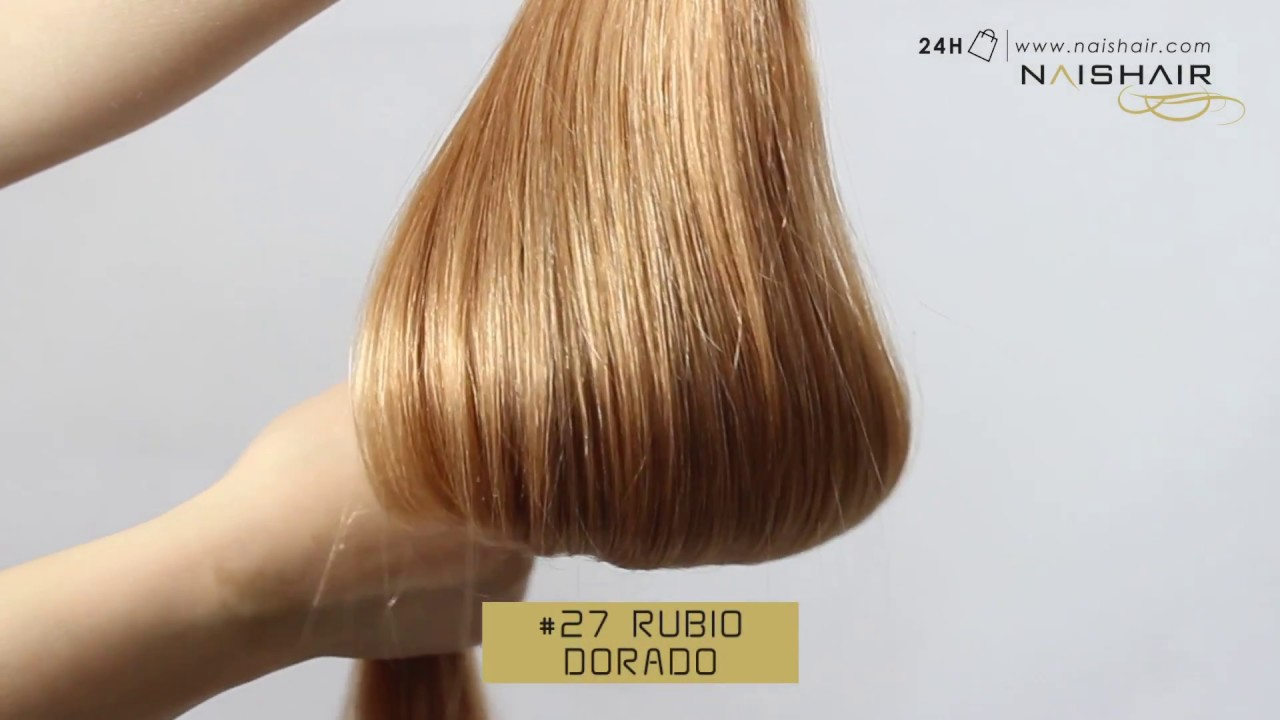 Cabello color rubio dorado