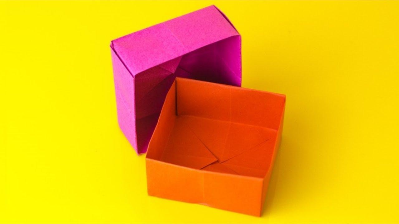 Origami Schachtel Falten Geschenkbox Mit Deckel Basteln