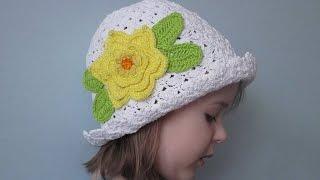 Летние детские шляпки  Схемы вязания крючком