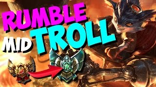 RUMBLE MID TROLL | NOCHE DE RANKEDS #2 | LEAGUE OF LEGENDS