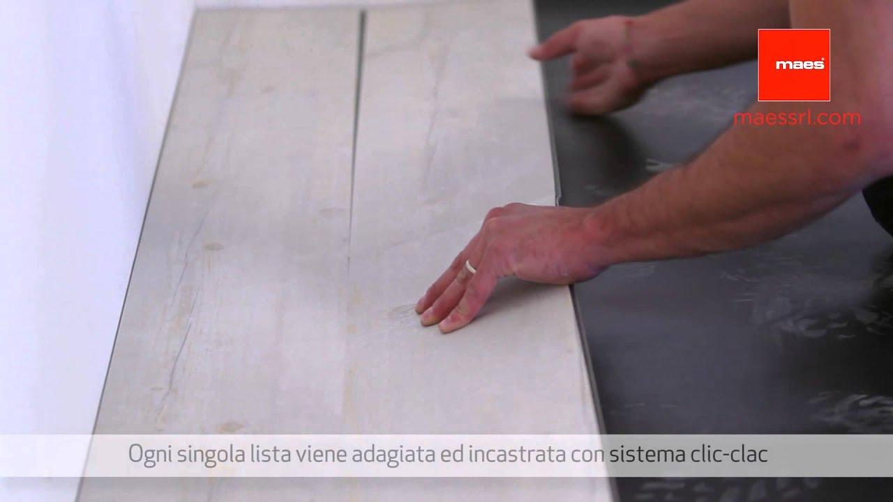 Posa In Opera Di Un Pavimento In Pvc A Doghe Youtube