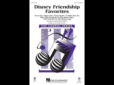 Disney Friendship Favorites (SATB) - Arranged by Alan Billingsley
